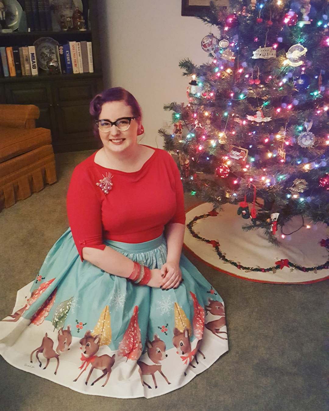 dressed in holiday style